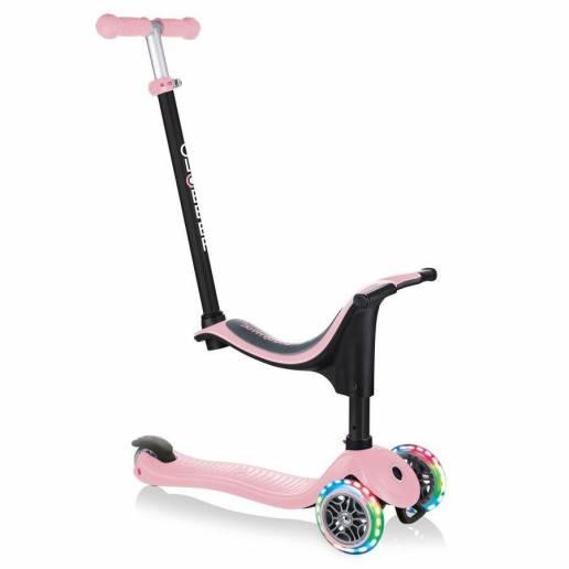 Globber GO-UP Sporty Lights / Pastel Pink - Skrejriteņi ar trīs riteņiem