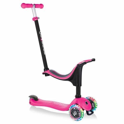 Globber GO-UP Sporty Lights / Deep pink 2021 - Skrejriteņi ar trīs riteņiem