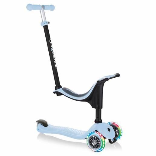 Globber GO-UP Sporty Lights / Pastel Blue 2021 - Skrejriteņi ar trīs riteņiem